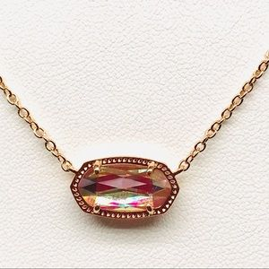 KS Ever Dichroic Glass Rose Gold color necklace